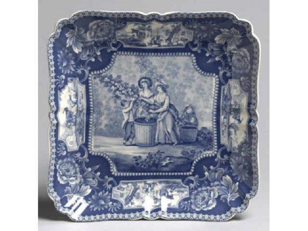 2: Nice Blue Porcelain Transferware Bowl