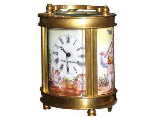 3: Bronze & Porcelain French Clock