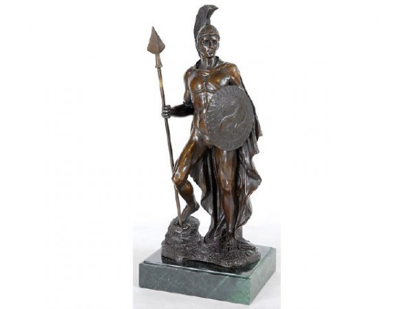 5: Finely Detailed Armored Warrior Bronze