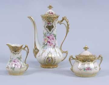 10: Beautifully Decorated Porcelain Tea Set