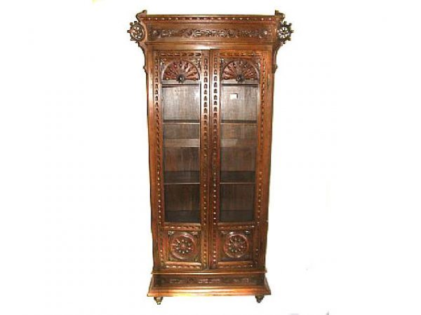 15: Fine Britannia 19th Century Oak Bookcase