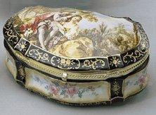 24: Large Hand Painted Porcelain Trinket Box