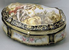24: Large Hand Painted Porcelain Trinket Box