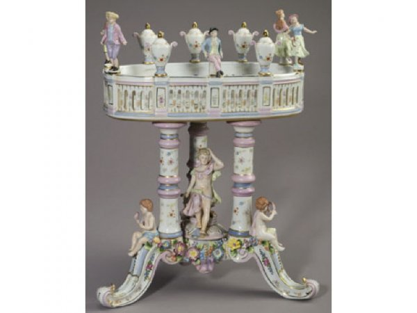 39: Fine Monumental Dresden Style Figural Compote