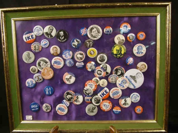 9311: large Lot Assorted Political Buttons