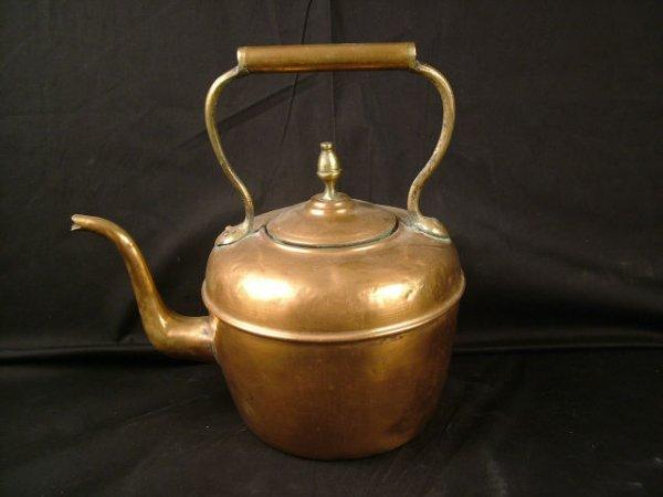 9319: Vintage COpper Tea Pot