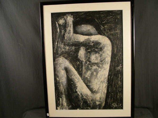 9352: 1959 Studi DeNune Surrealist Painting