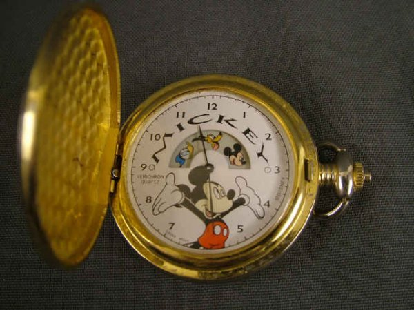 9464: Mickey Mouse Quartz Pocket Watch