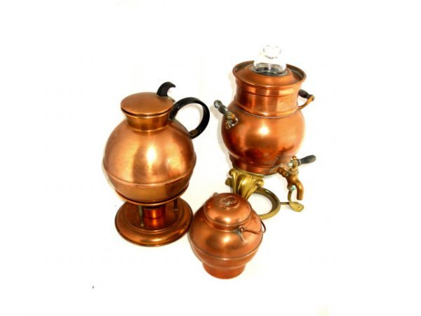 1022: Lot of 3 European Copper Items
