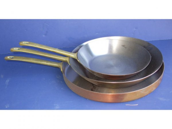 1110: Lot of 12 Assorted Copper Cookware Items