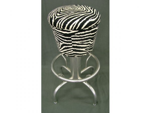 9006: Designers ZEBRA Pattern Barstool