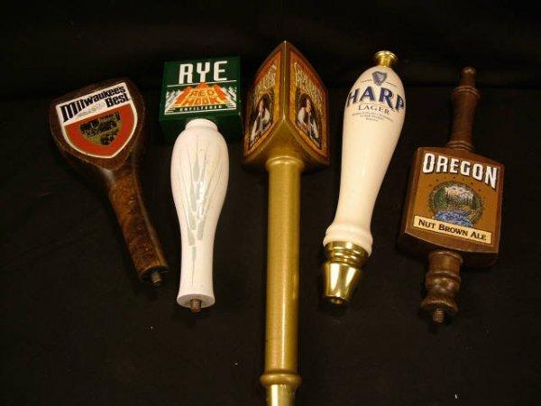 9015: Lot of 5 Assorted Beer Taps