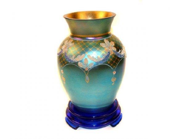 9022: Fenton Limited Edition Irridized Vase