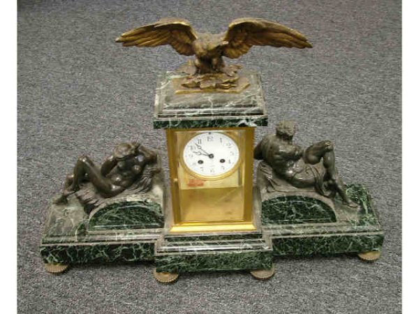 9087: Fine French Clock with Figurals & Eagle