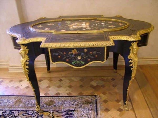 9118: Stunning Pietra Dura FRENCH 19th Century Desk