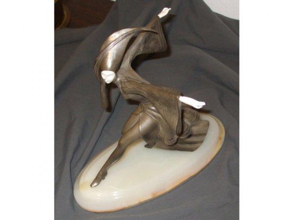 9140: Fine Art Deco Gerdago Signed Bronze