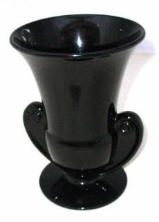 100: Nice Black Fenton Glass Compote