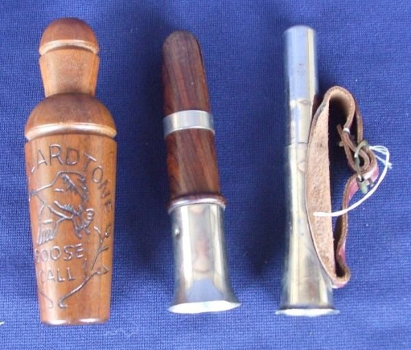 14026: Lot of 3 Vintage Duck and Goose Calls