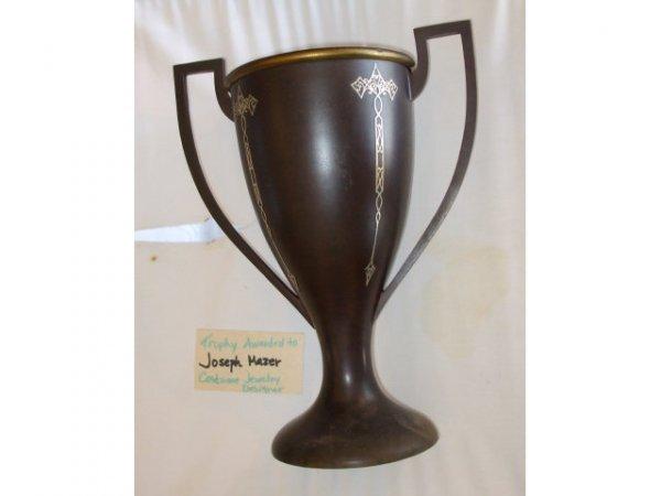 13005: Heintz Nouveau Sterling over Bronze Trophy Cup