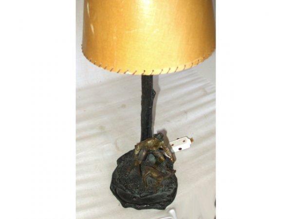 13014: Vienna Bronze Hunter Lamp