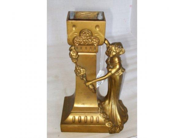 13015: C. KAUBA Vienna Bronze Nouveau Figural Vase
