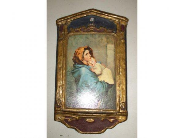 10010: Art Nouveau MADONNA & Child Wall Plaque