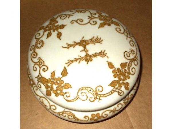 10015: 19th Century T & V Limoges Creamware Box