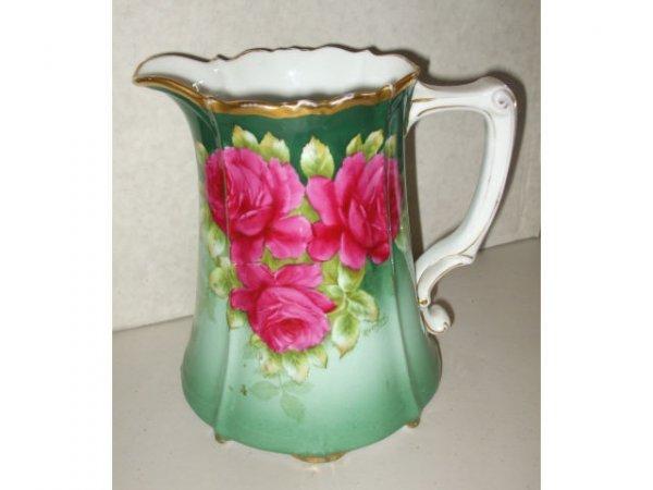 10019: Fancy Bavarian Porcelain Pitcher