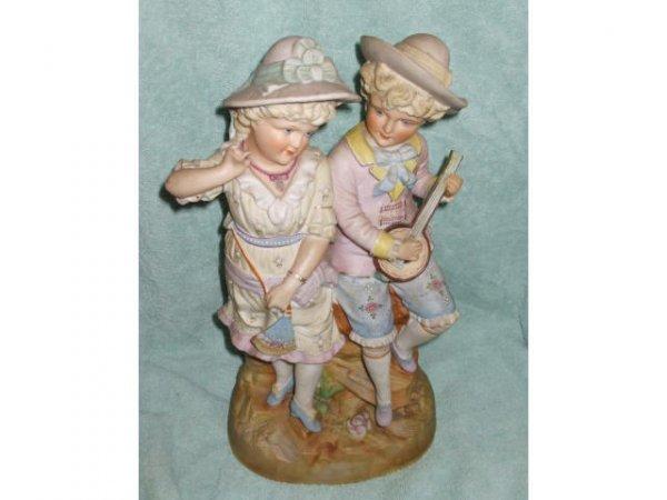 10066: Lot of 2 1890s Austrian Bisque Figural