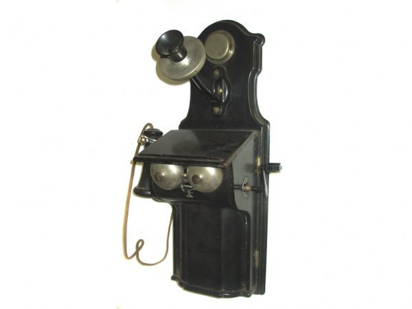 1201: Antique Metal Cased Violin Wall Phone