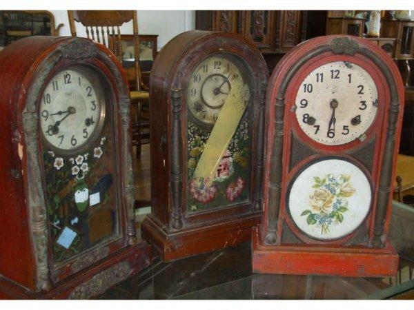 969: Lot of 3 Antique Japanese Trade Clocks