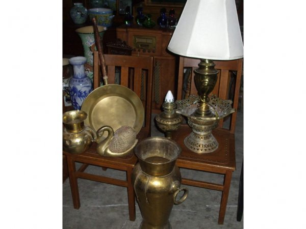 970: Lot of 7 Assorted Vintage Brass Items