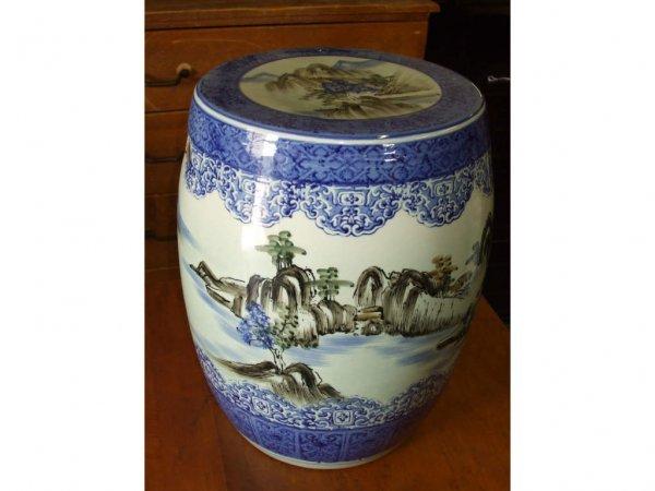 977: Oriental Porcelain Garden Stool