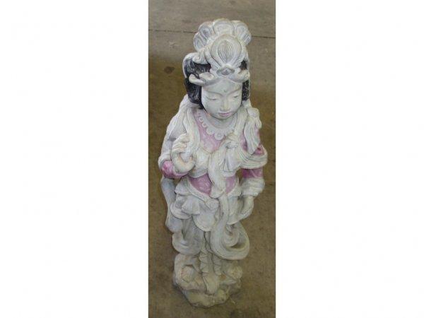 980: Oriental Cast Stone Female Figure