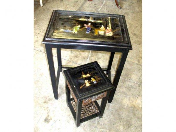 981: Antique Oriental Table Lot