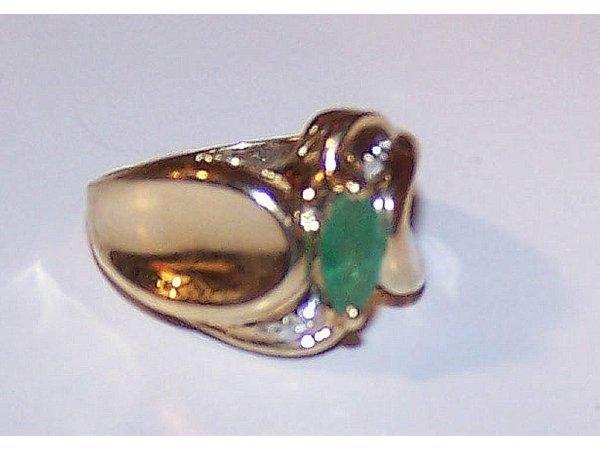 1603: Fine Estate Emerald & Diamond Ring