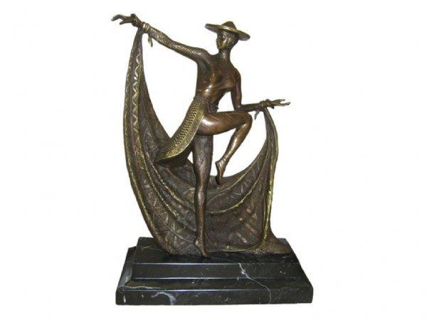 1606: Fine Bronze Art Deco Dancer