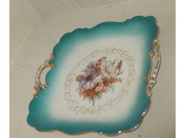 1613: Fine German Porcelain Square Shape Charger