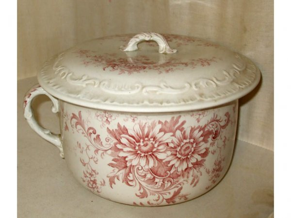 1614: Granada Pattern Red Transferware  Waste Pot