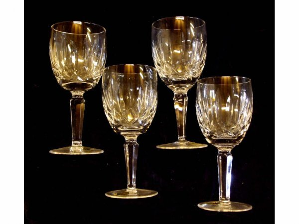 1619: Lot of 4 Waterford Lismore Stems