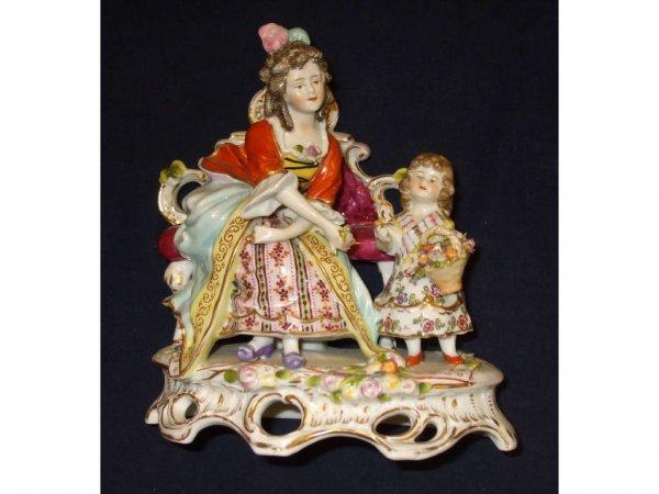 1620: Large Meissen Style Sitzendorf Figural Study