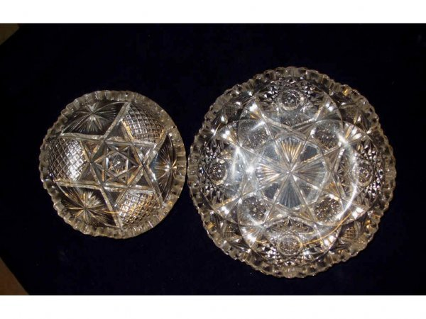 1622: Lot of 4 ANTIQUE American Brilliant Cut Glass