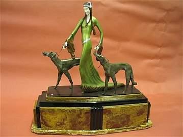 8: Art Deco Chipparus Style Bronze