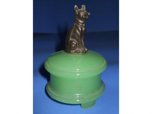501: Jadeite Dog Figural Cigar Lighter Element
