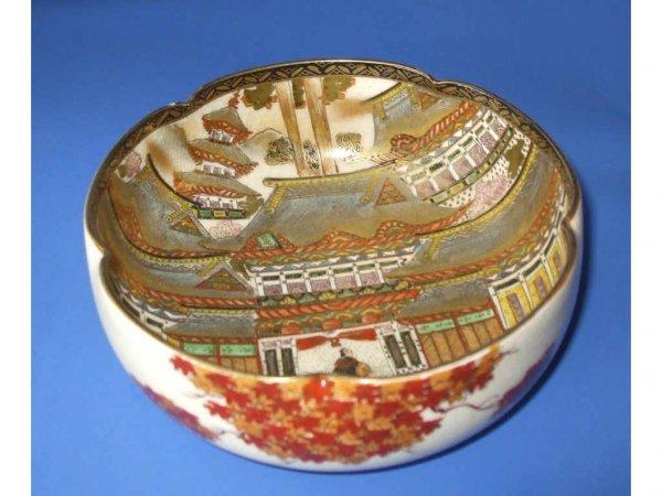 505: Taisho Period Satsuma Open Decorated Bowl