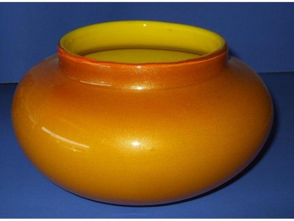 506: Large Art Glass Blown Cased Glass Vase