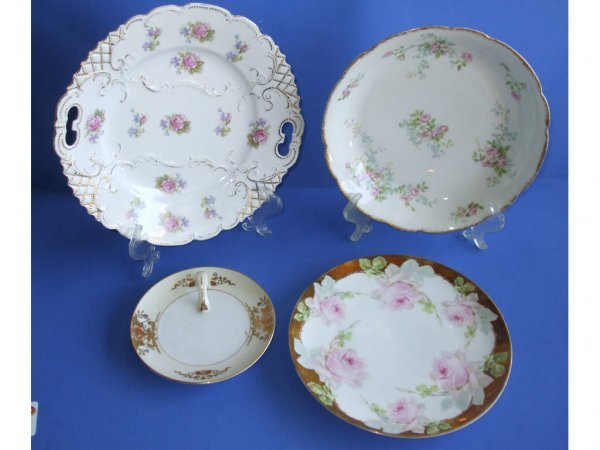 512: Lot of 4 Porcelain Decorated Plates