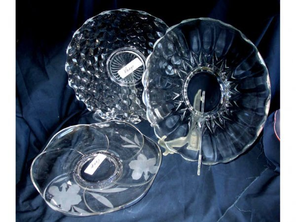 524: Lot of 3 Assorted Serving Trays