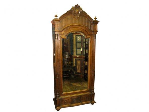 2003: Walnut Mirrored Door Armoire