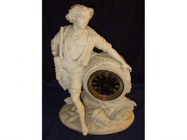 2005: Fine French Parian Ware Figural Clock